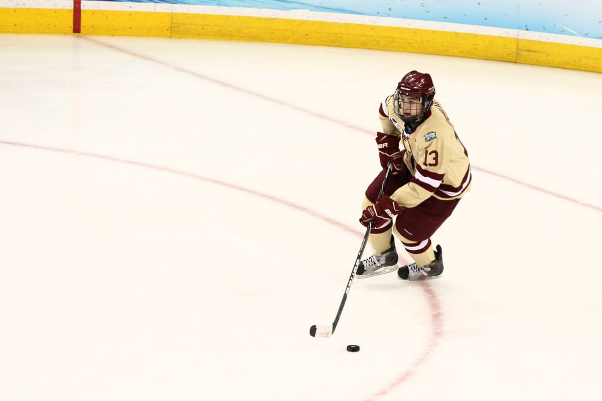 Johnny Gaudreau was the Hockey East Player of the Year as voted by the Hockey East Writers and Broadcasters Association