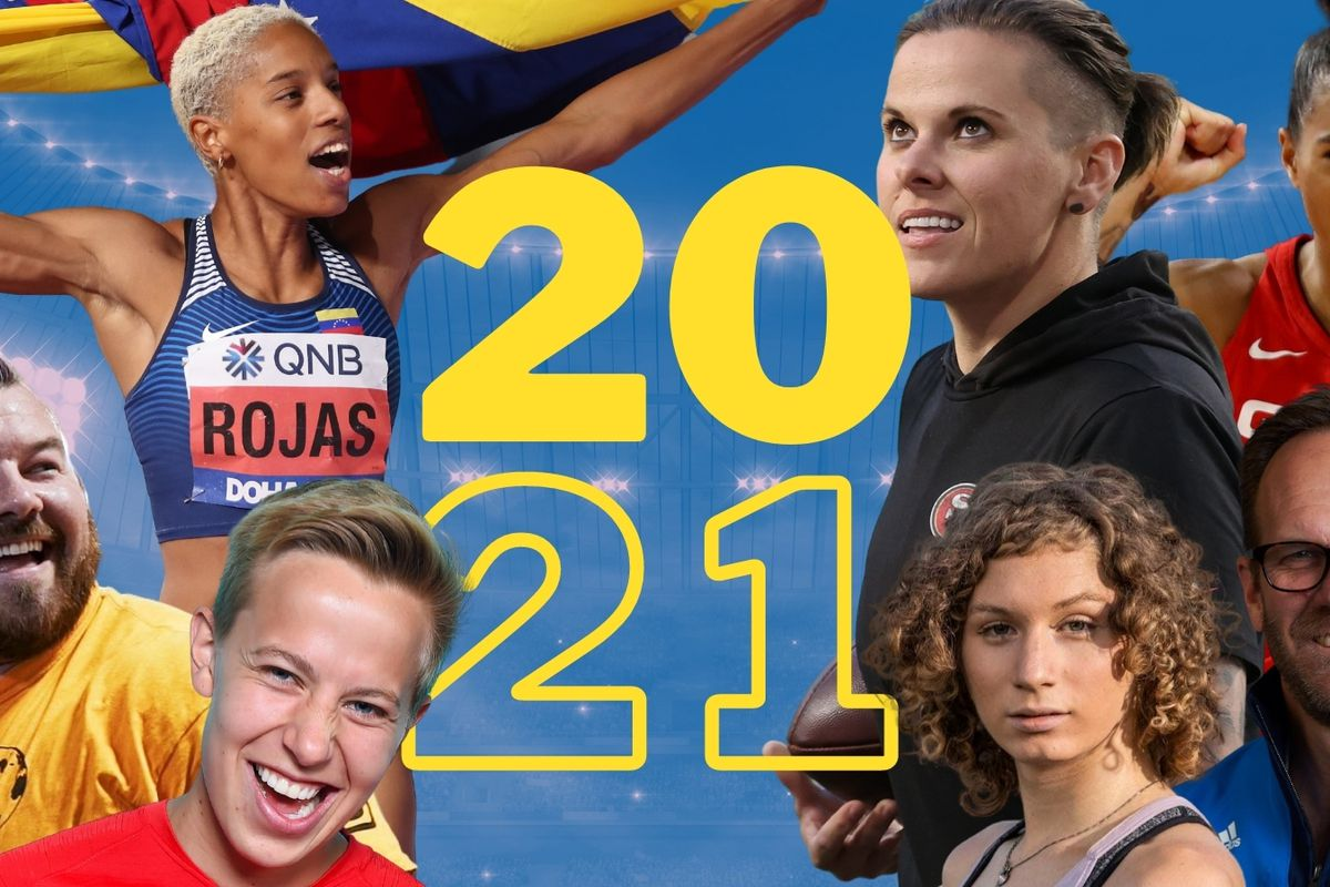 These are seven of the nine winners of the Outsports awards for 2020.
