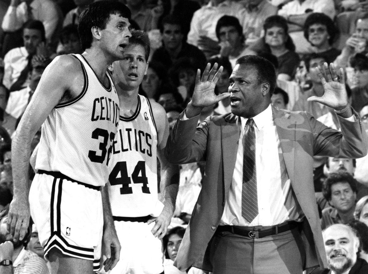 1988 NBA Playoffs: Detroit Pistons Vs Boston Celtics At Boston Garden