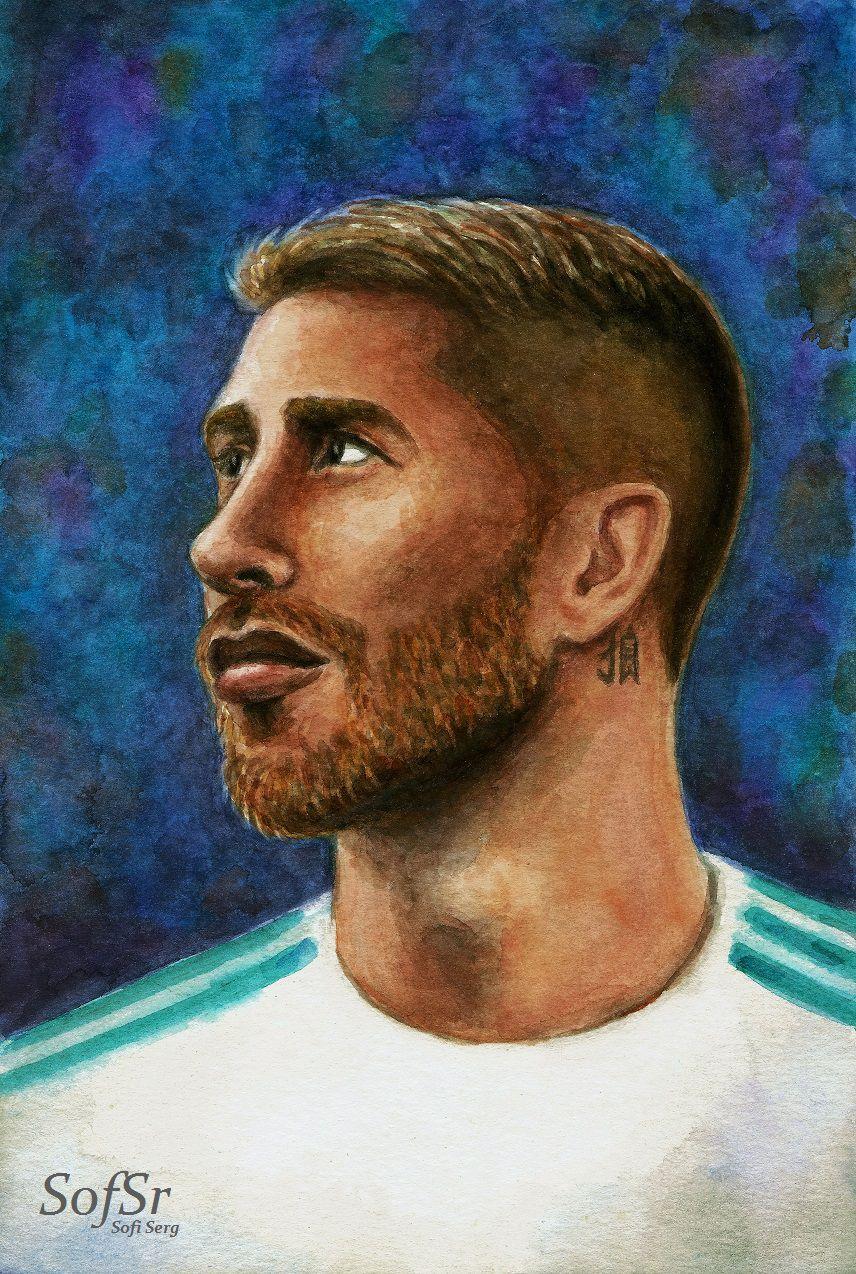 Sergio Ramos. Drawing by Sofi Serg.