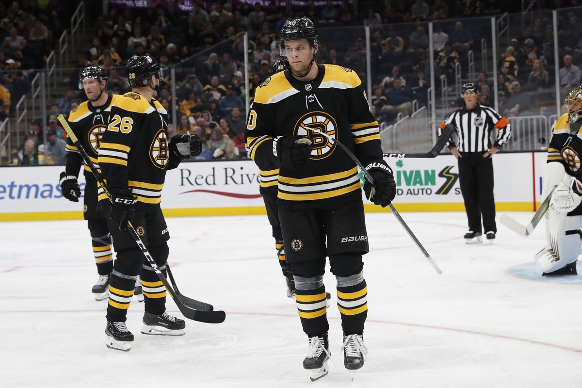 The Bruins announce the last round of big cuts, including Anders Bjork