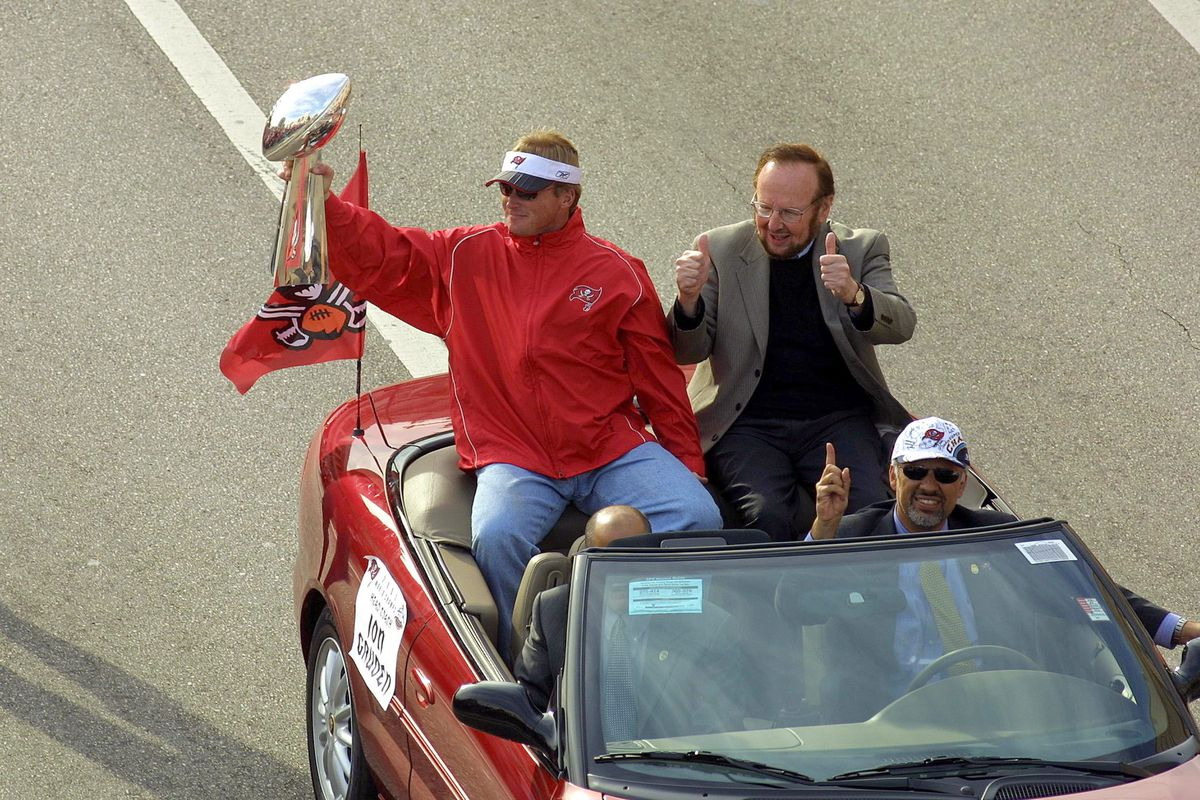 Gruden and Glazer in victory parade