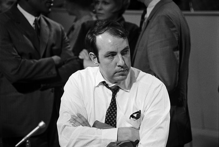 A young Roger Ailes, during his days on the 1968 Nixon campaign.