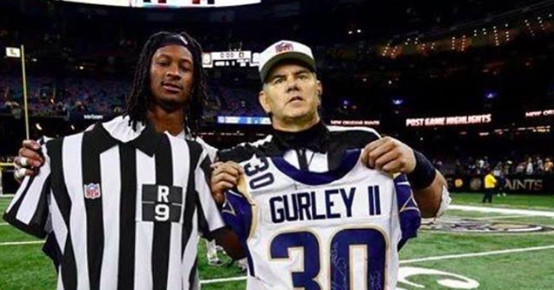 quality design 8298d 2095d Todd Gurley's fake photo with a ref tricked Mike Francesa ...