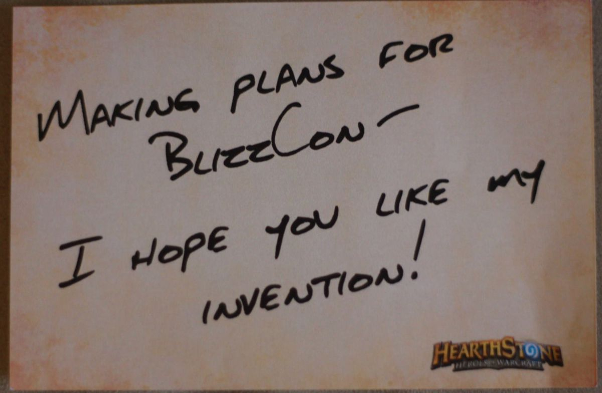 Hearthstone BlizzCon 2014 teaser note 1920