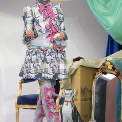 A model wears a designs from the Spring/Summer 2013 Meadham Kirchoff collection at a central London  venue, during London Fashion Week, Tuesday, Sept. 18, 2012.