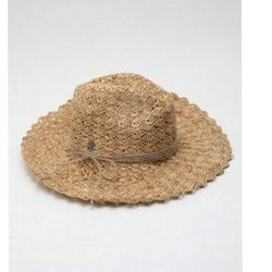 """A wide brimmed hat is stylish sun protection at its best. <a href=""""http://www.kembrel.com/christy-s-fancy-crochet-rancher-raffia-natural.html"""">Christy's Fancy Crochet Raffia Rancher</a>, $65 at Kembrel."""