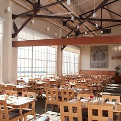 The first high profile vegetarian restaurant in the US, Greens is located in a converted warehouse at historic Fort Mason. Floor to ceiling windows with panoramic views of the Bay and beyond line the dining room, built by San Francisco Zen Center carpente