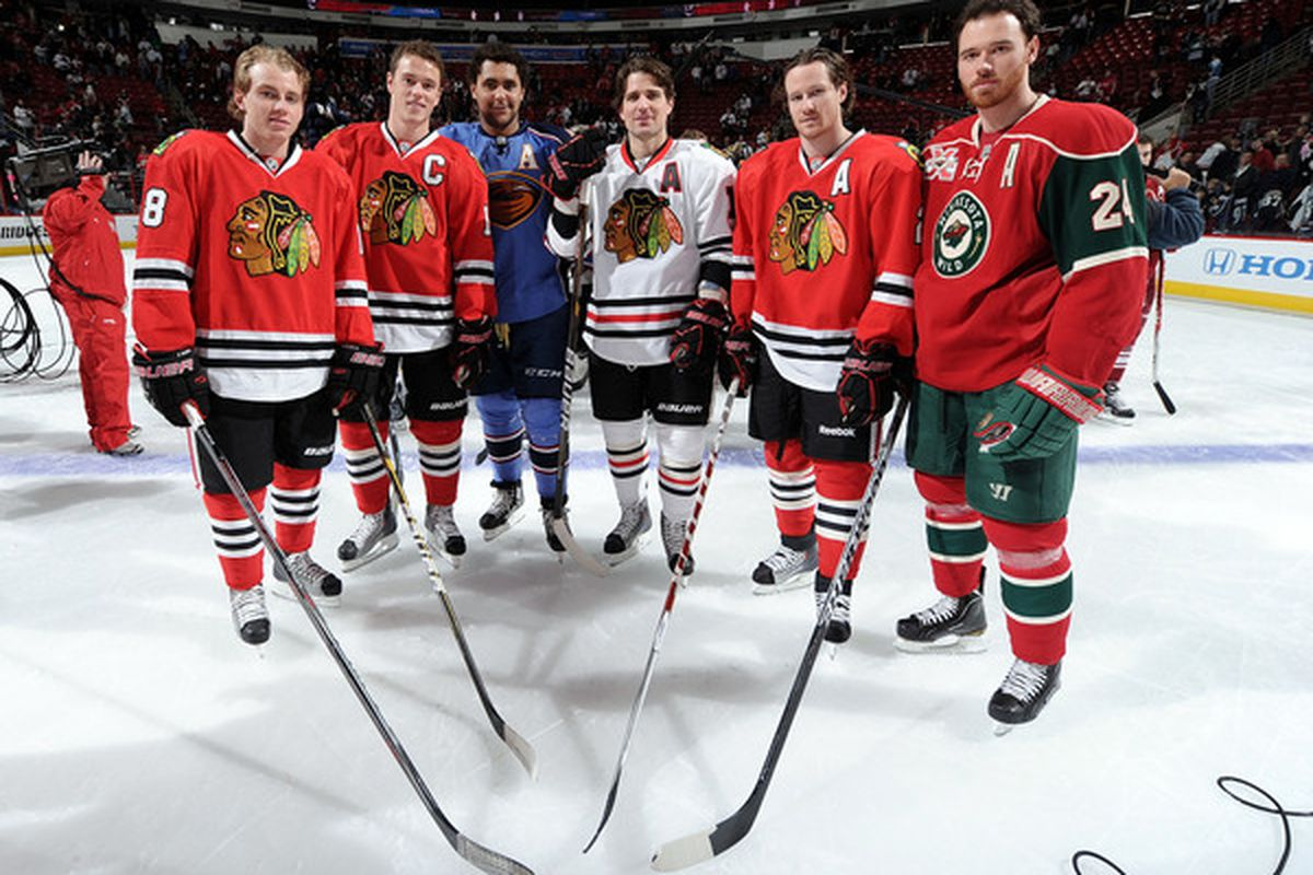 Apparently every other former Blackhawk was unavailable.