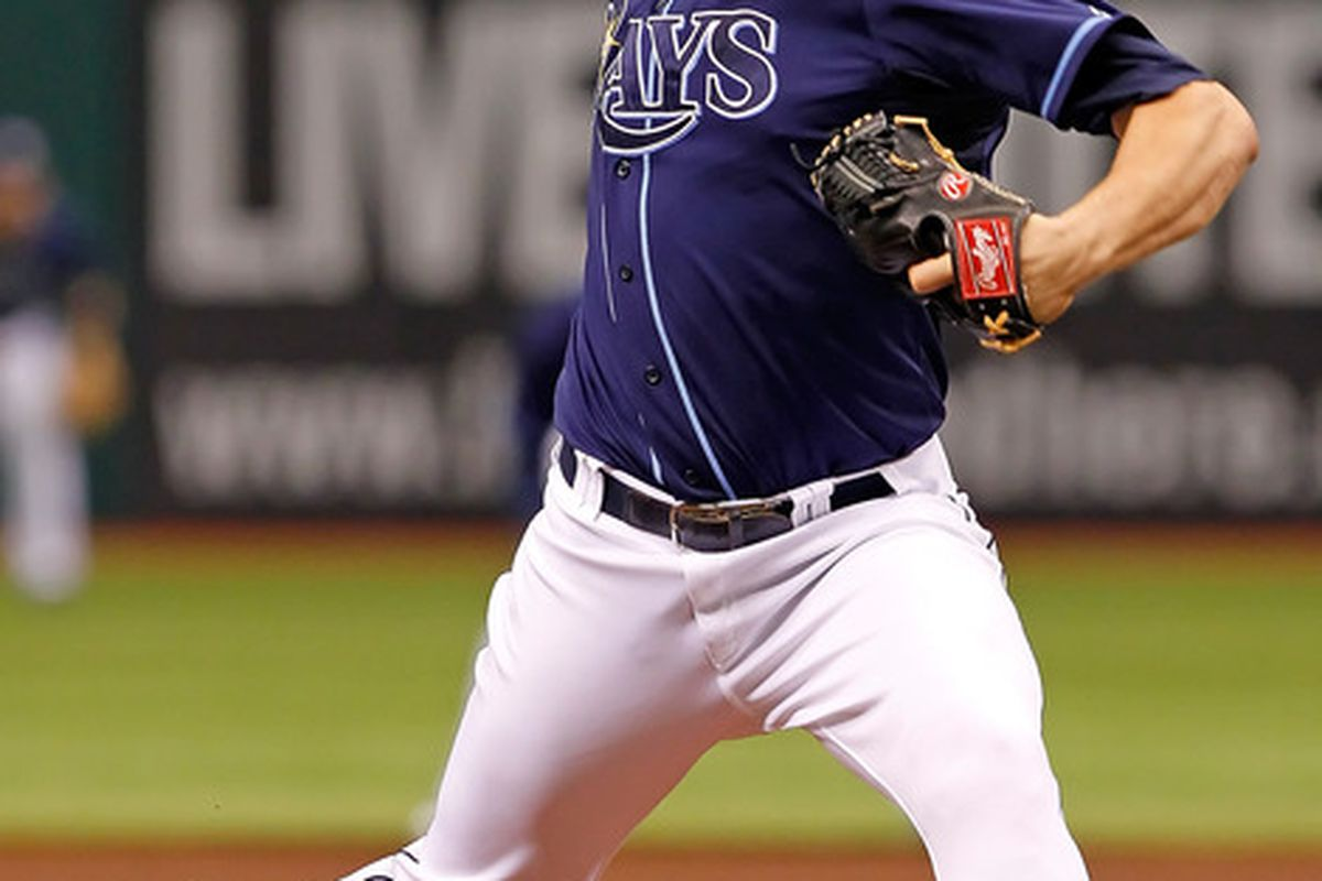 2011 MLB All-Star James Shields of the Tampa Bay Rays, drafted in the 16th round in 2000. (Photo by J. Meric/Getty Images)