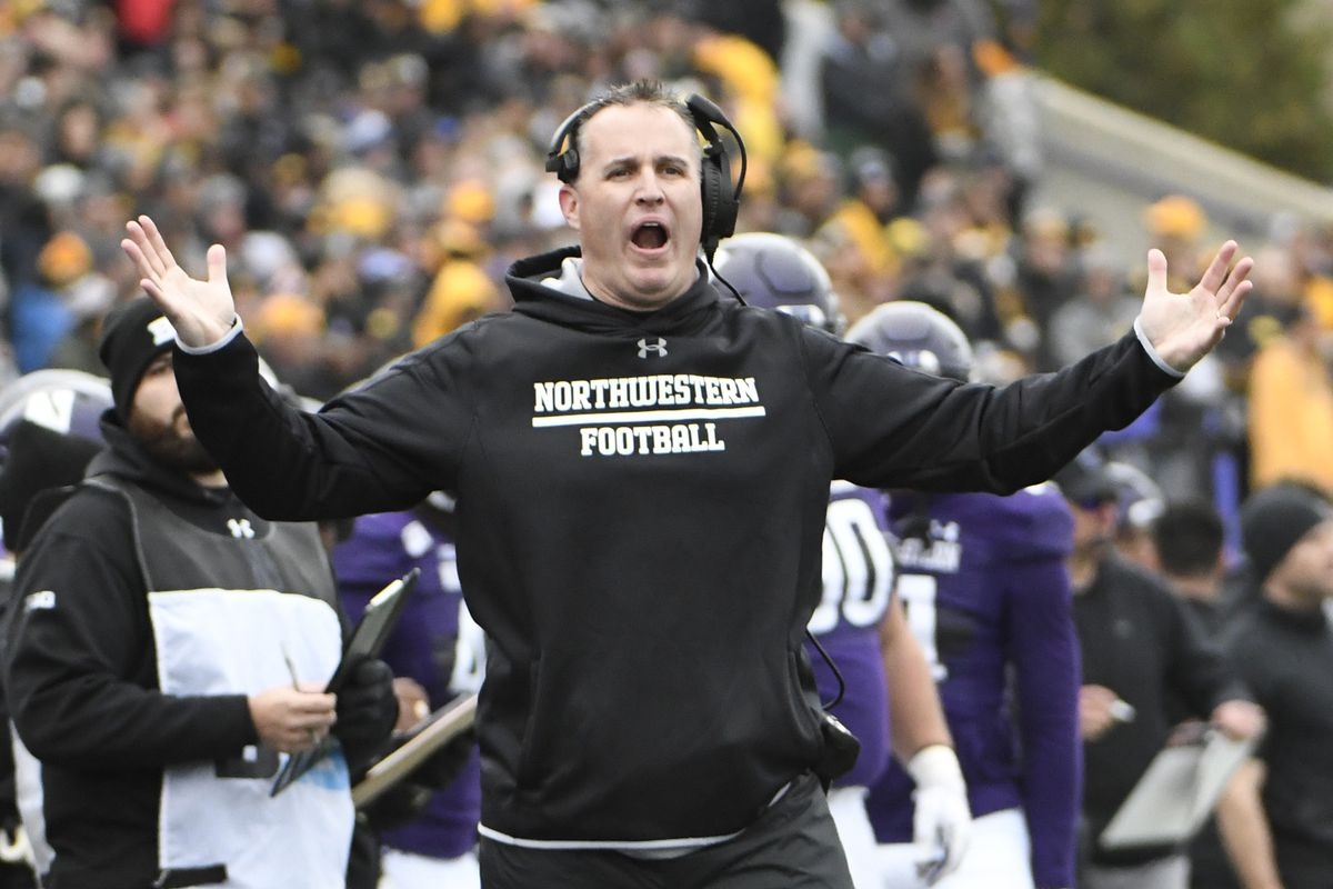Pat Fitzgerald will be going for his 100th win as Northwestern coach when the Wildcats play Maryland on Saturday.