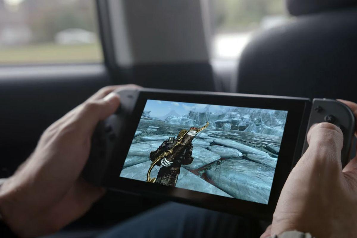 Screenshot of Skyrim on Nintendo Switch