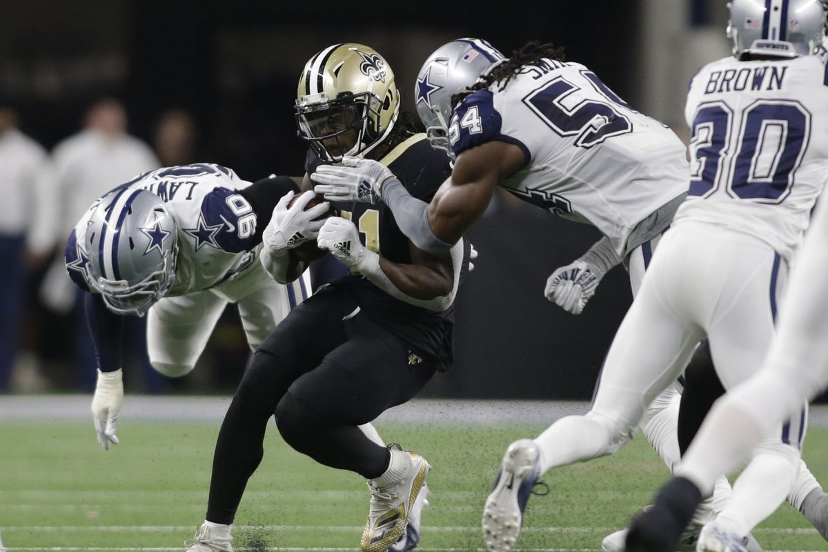 finest selection d4a9d 9f04e NFL refs missed a helmet hit on Alvin Kamara. They need to ...