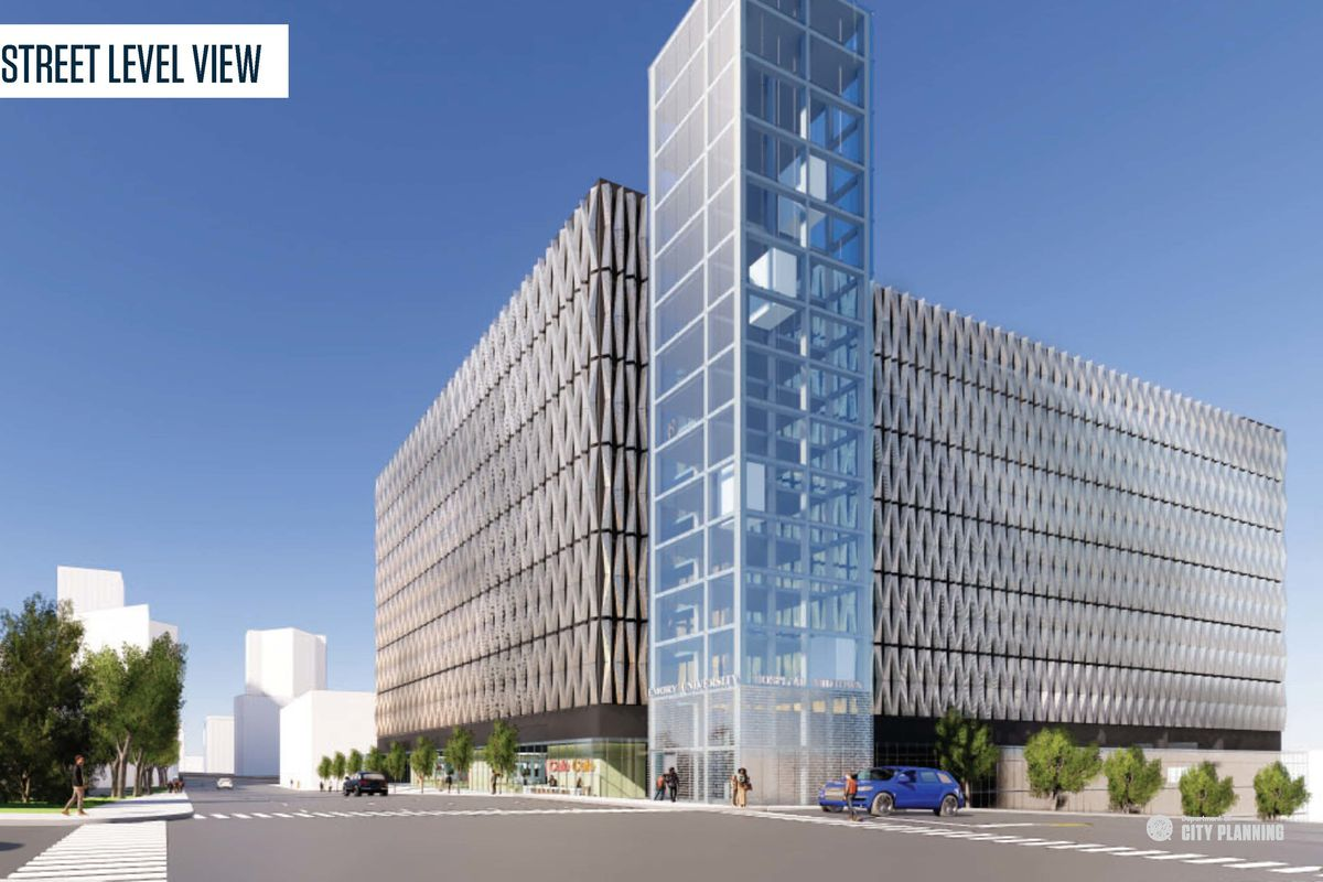 a rendering of the proposed parking deck