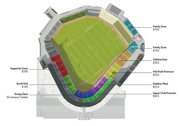 Louisville City FC seating configuration
