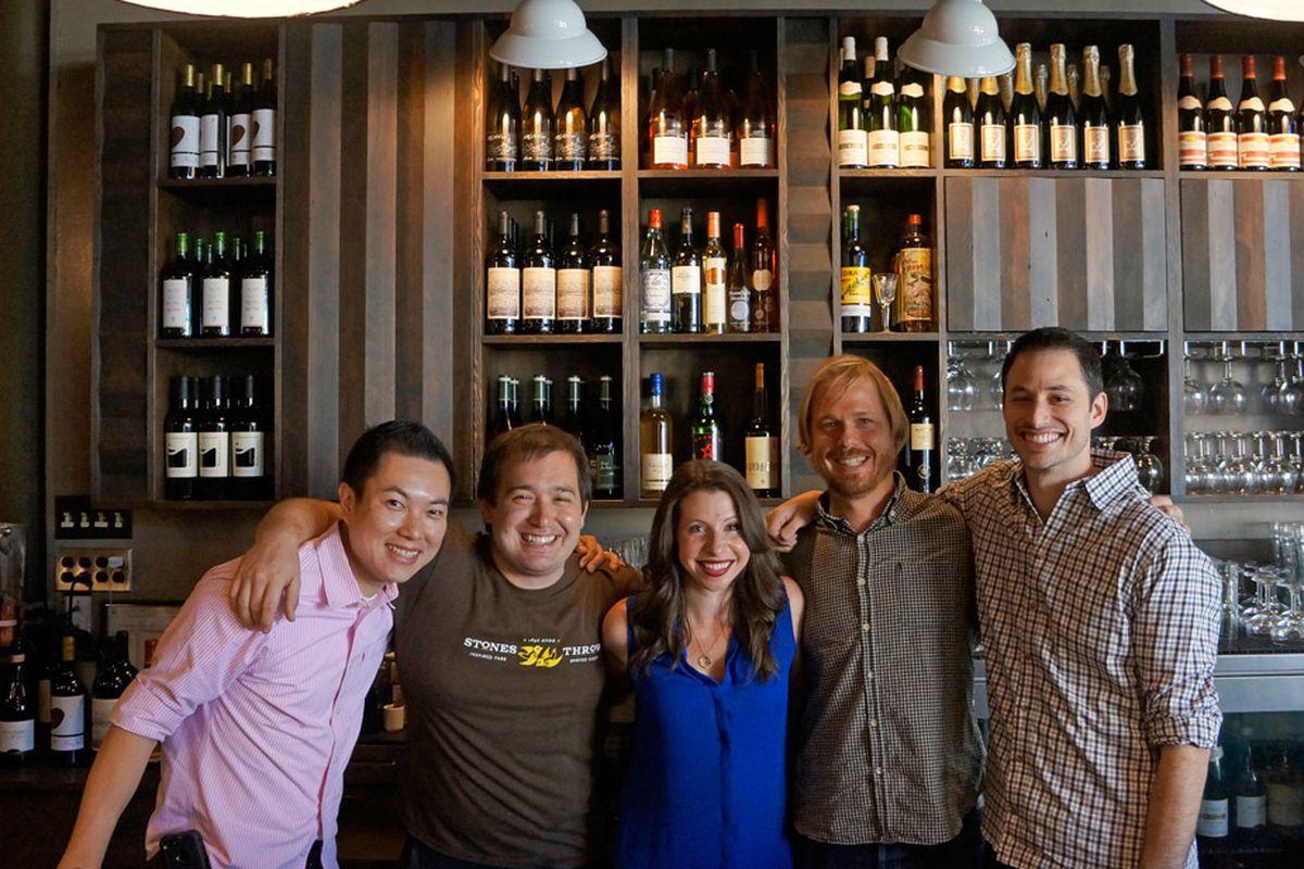 Ryan Cole (right) with members of his team (Cyrick Hia, Jason Halverson, Tai Ricci, Jason Kirmse) at Stones Throw