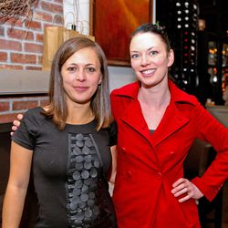 Eater editor Andra Zeppelin and Courtney Wilson of Williams & Graham, Bartender of the Year nominee