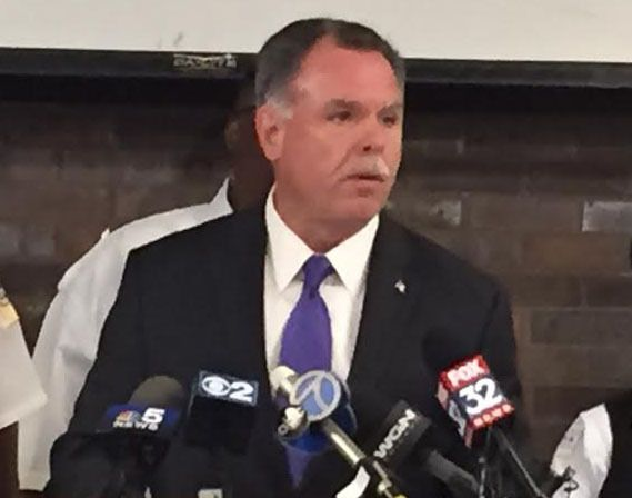 """""""Seven-year-old Amari Brown was the unintended victim of a bullet that was meant for his father,"""" then-Supt. Garry McCarthy said at a news conference July 5, 2015. 