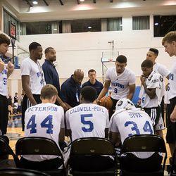 Detroit Pistons Summer League Huddle