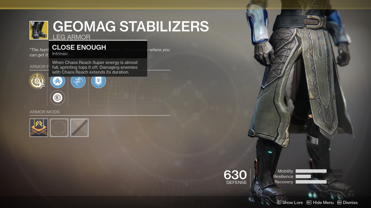 Geomag Stabilizers Exotic Destiny 2