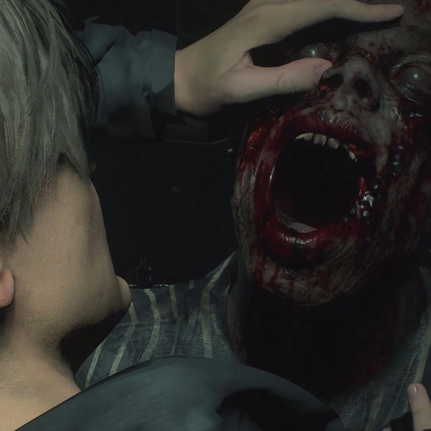 Image result for resident evil 2 zombie eat