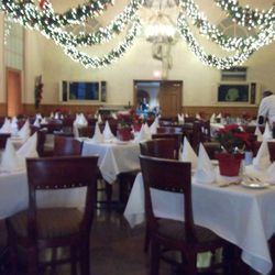 The dining room, ready for opening night.