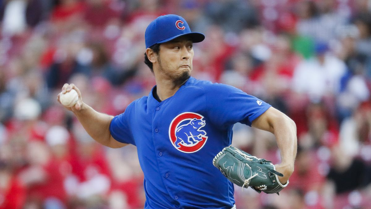 2cacacc9e Cubs starting pitcher Yu Darvish throws in the second inning Wednesday  against the Reds. AP Photo John Minchillo