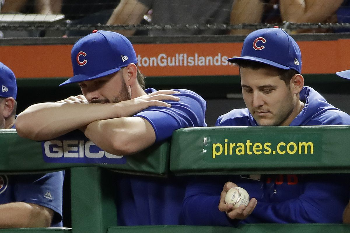 It's a waiting game for Cubs and a possible trade of Kris Bryant (left) and possible extension for Anthony Rizzo (right).