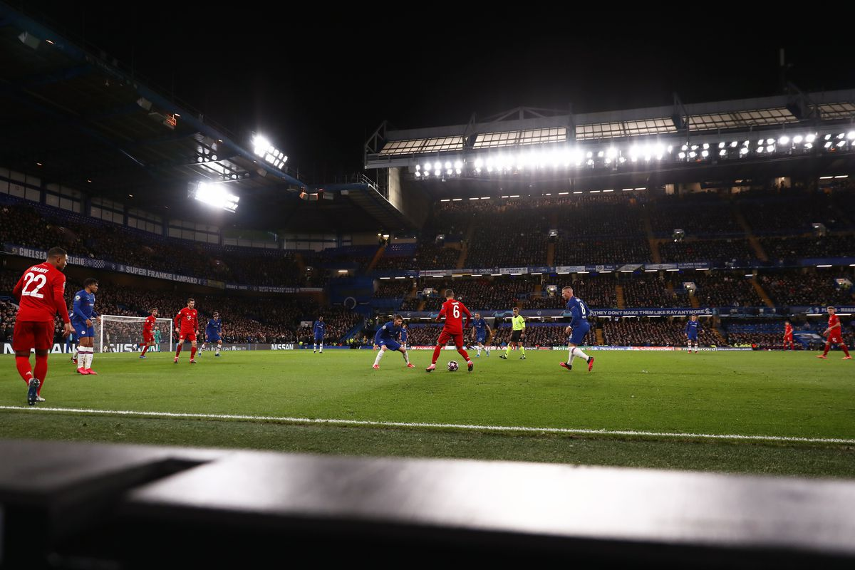View of the Stamford Bridge Stadium during the UEFA...