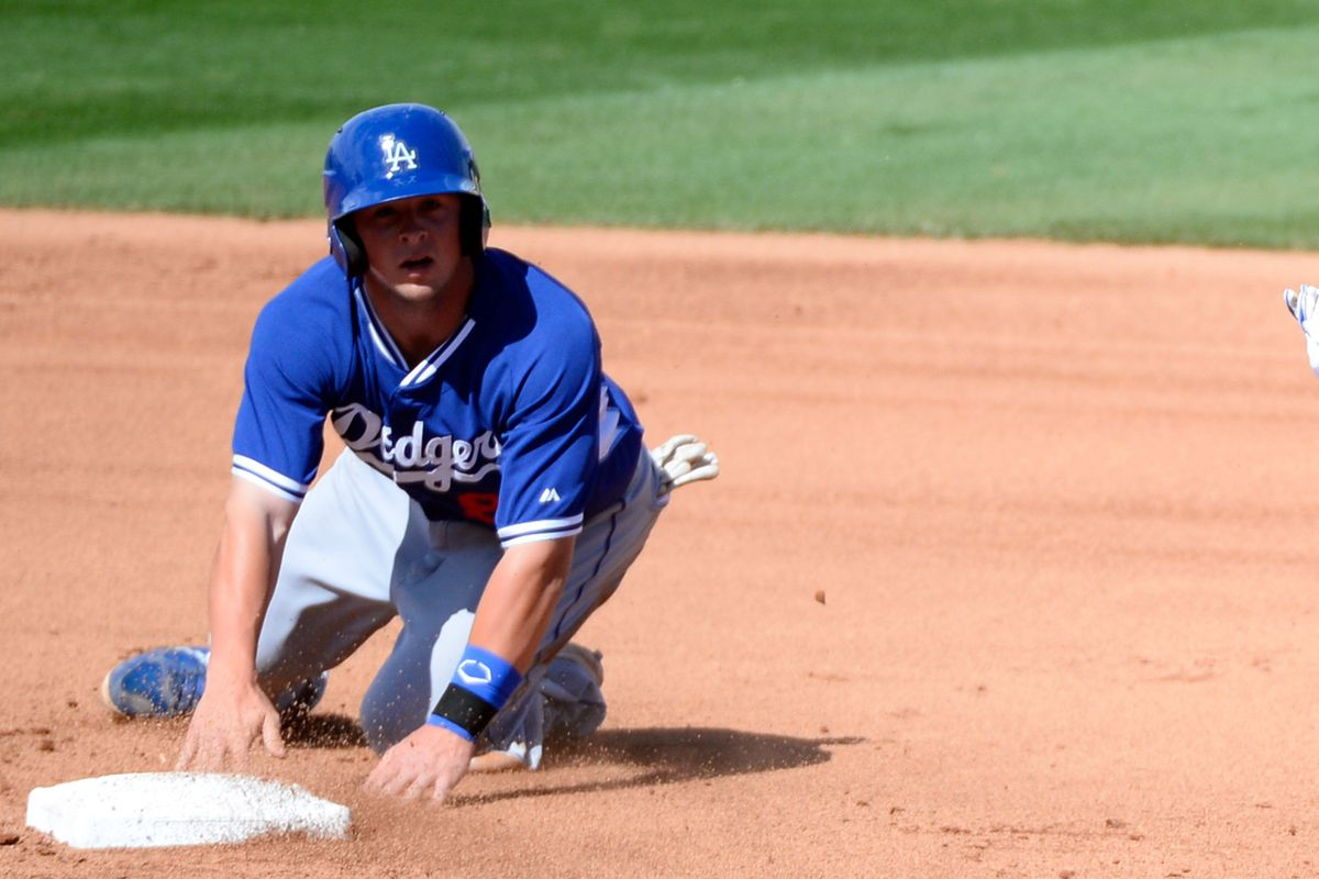 Kyle Farmer saw major league action during one game with the Dodgers in the Cactus League this spring.
