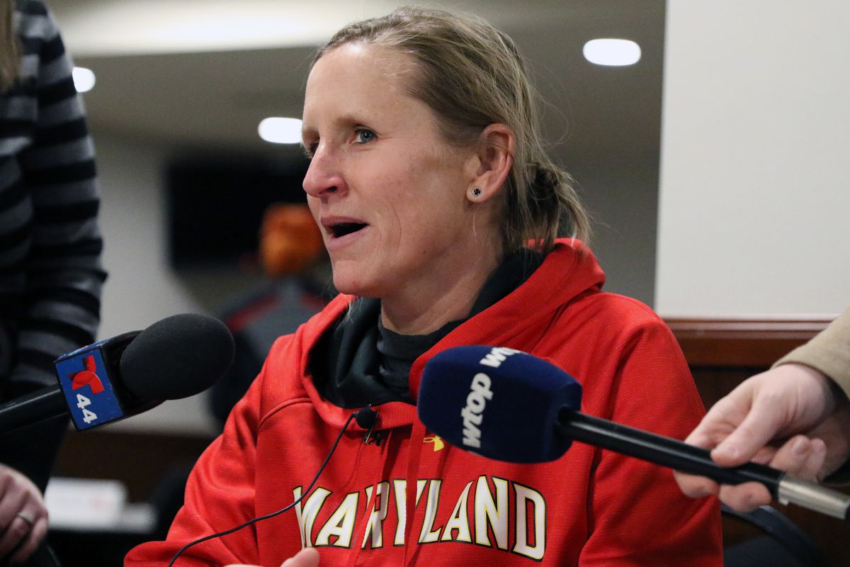 Maryland women's lacrosse Cathy Reese media day