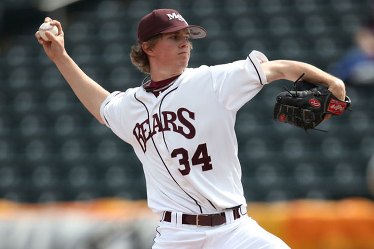 """Pierce Johnson is a potential first-round pick in the upcoming June draft via <a href=""""http://www.mvc-sports.com/media/2010-11/baseball/Missouri%20State/Pierce-Johnson.jpg"""">www.mvc-sports.com</a>"""