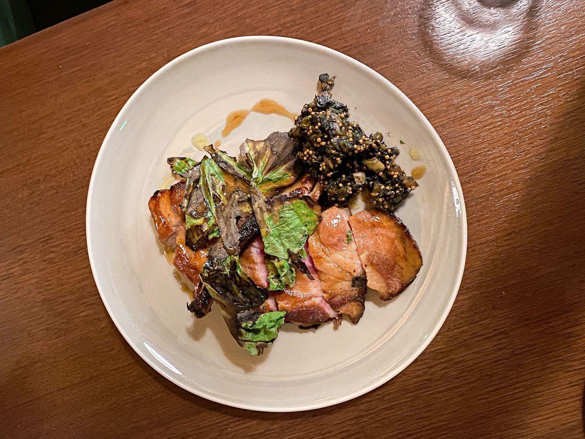 Pork chop at Bar Avalon in Echo Park.