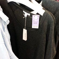 James Perse long-sleeved basics for $49.99 (orig. $100), plus Soft Joie for $29.99 (orig. $60)