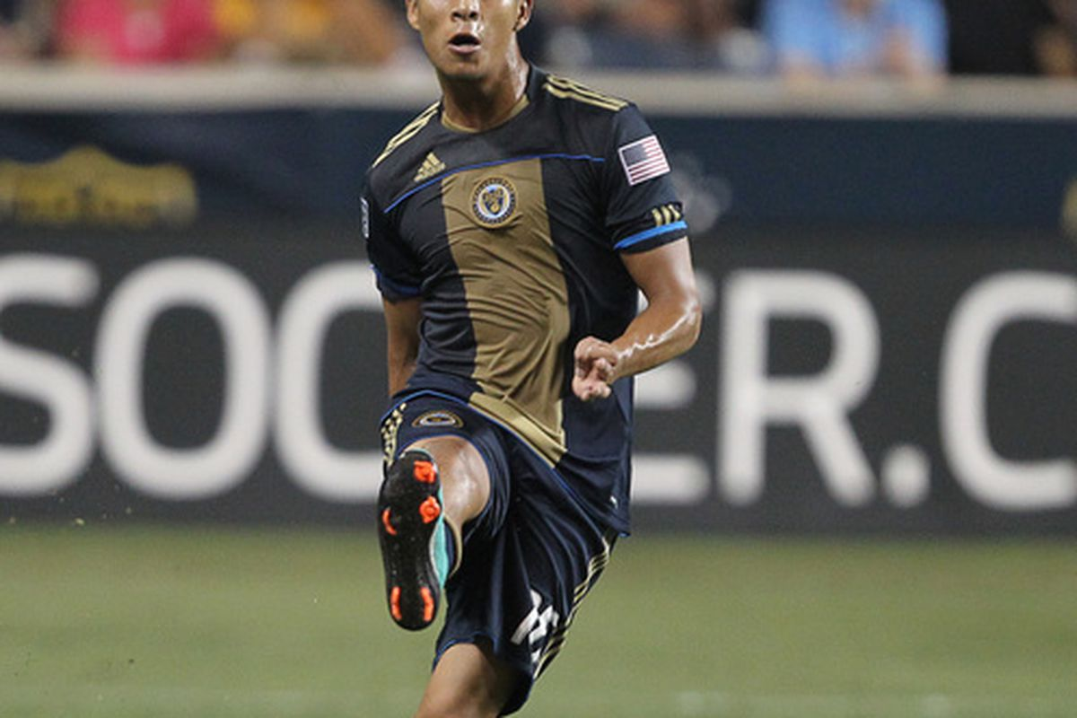 CHESTER PA - AUGUST 11: Defender Michael Orozco Fiscal #16 of the Philadelphia Union in action during the game against Real Salt Lake at PPL Park on August 11 2010 in Chester Pennsylvania. The game was a 1-1 tie. (Photo by Hunter Martin/Getty Images)