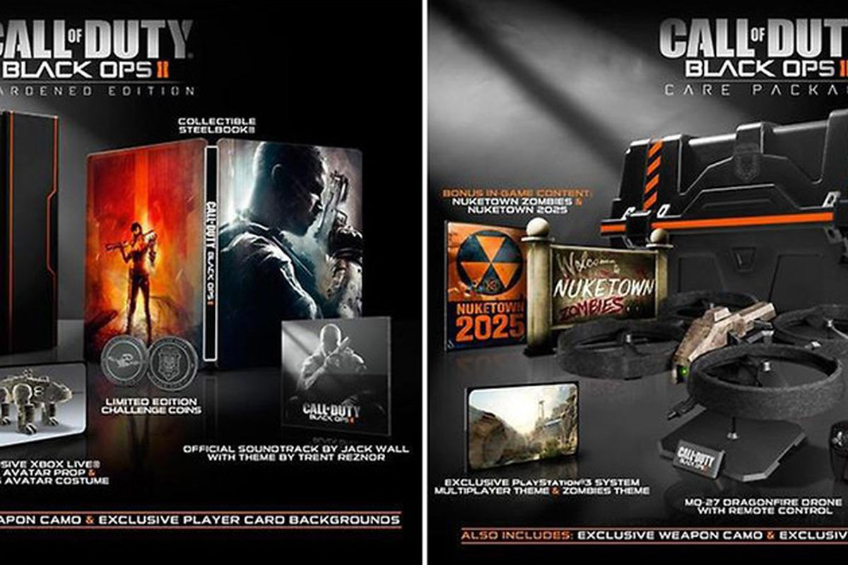 Call Of Duty Black Ops 2 Hardened And Care Package Editions