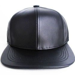"""<strong>Patricia Field</strong> Leather Baseball Cap in Black, <a href=""""http://patriciafield.com/collections/hats/products/leather-b-cap"""">$28</a>"""