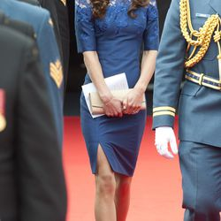 In an Erdem dress and L.K. Bennett pumps on July 3rd, 2011, the fourth day of the royal couple's Canadian tour.