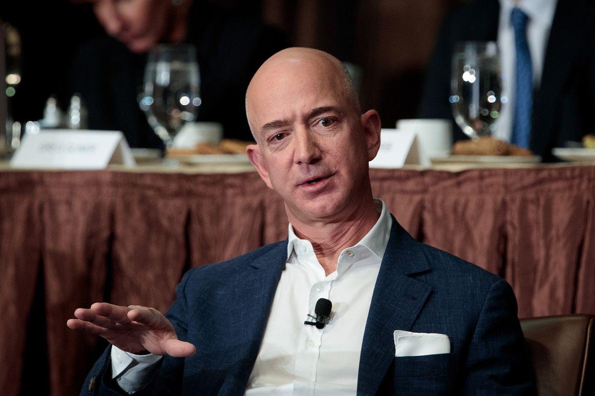Amazon CEO Jeff Bezos Addresses Economic Club Of New York