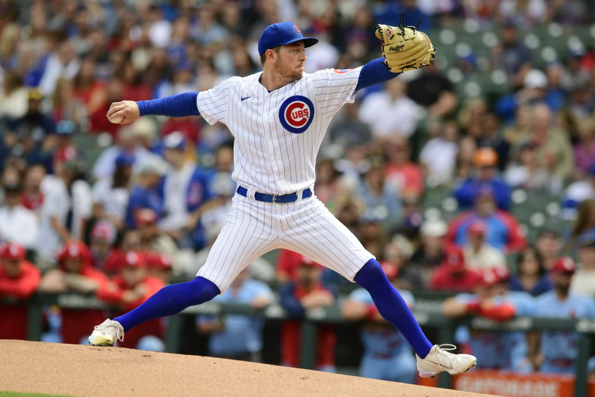 Adrian Sampson hopes to be in the mix for the Cubs' 2022 pitching staff.