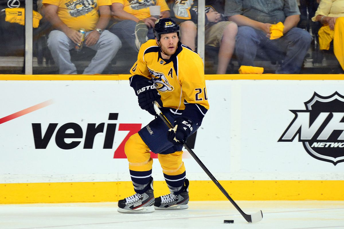 Suter is going to look so much better in red than that ugly yellow (Don McPeak-US PRESSWIRE).