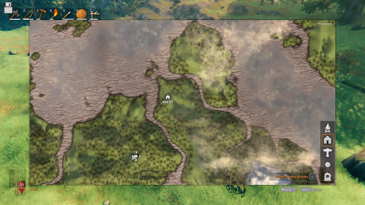 A map screenshot from Valheim