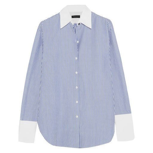 Rag & Bone oversized pinstriped cotton shirt