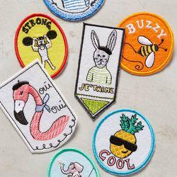 "Anthropologie merit badges, <a href=""http://www.anthropologie.com/anthro/product/37256799.jsp#/"">$5</a>"