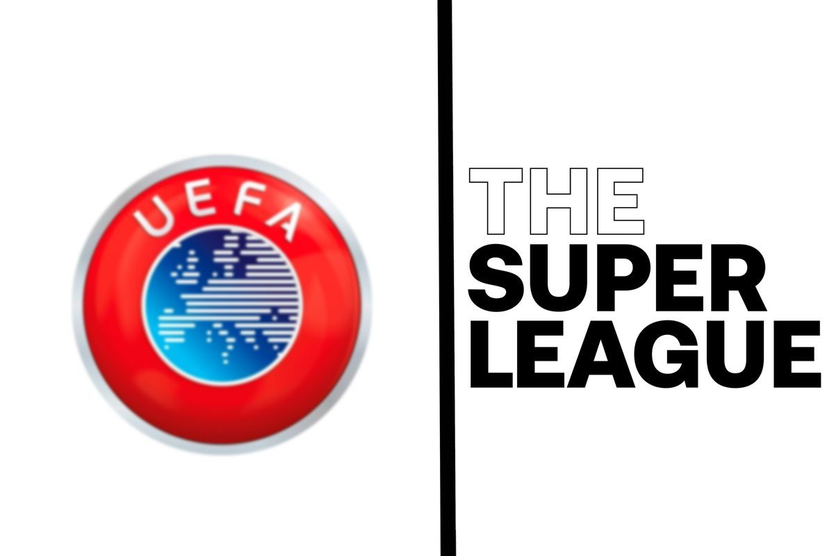 In this photo illustration, The Super League logo seen...