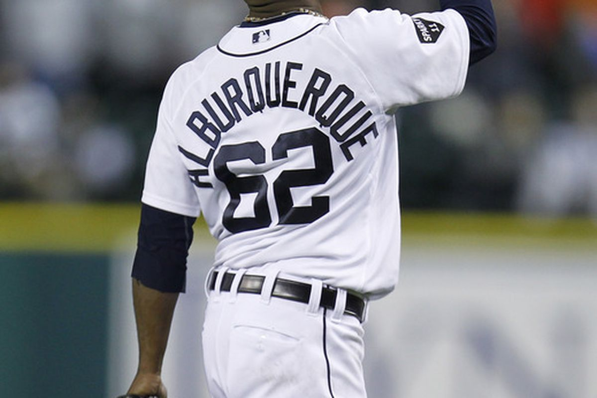 I really don't know what to do when we don't have photos of the players I'm talking about. So let's hope Oliveros eventually dominates like Alburquerque has been. (Photo by Gregory Shamus/Getty Images)