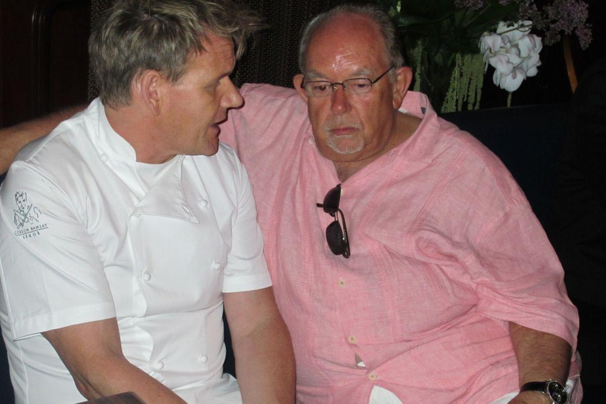 Gordon Ramsay and Robin Leach