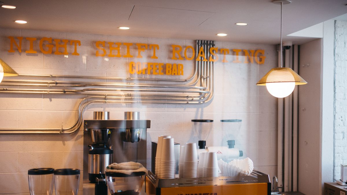 A view inside the Night Shift cafe