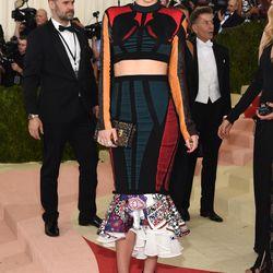 MIranda Kerr wearing a Louis Vuitton two-piece.