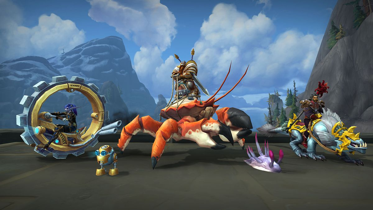 World of Warcraft: an assortment of new mounts with the 8.2 patch